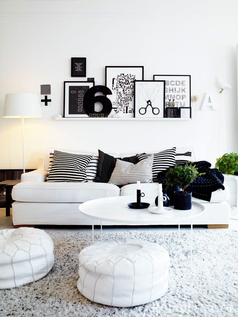 Черно-белые подушки
