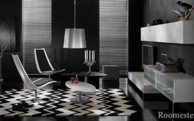 Черно-белый интерьер — примеры контрастного дизайна