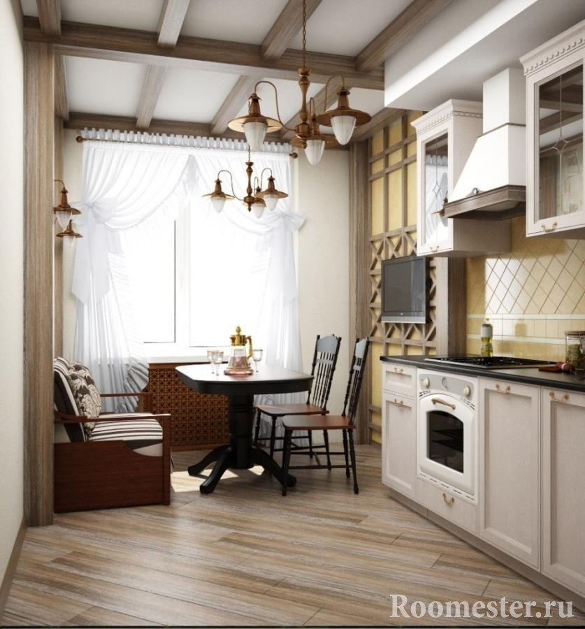 Расширение площади кухни за счет балкона