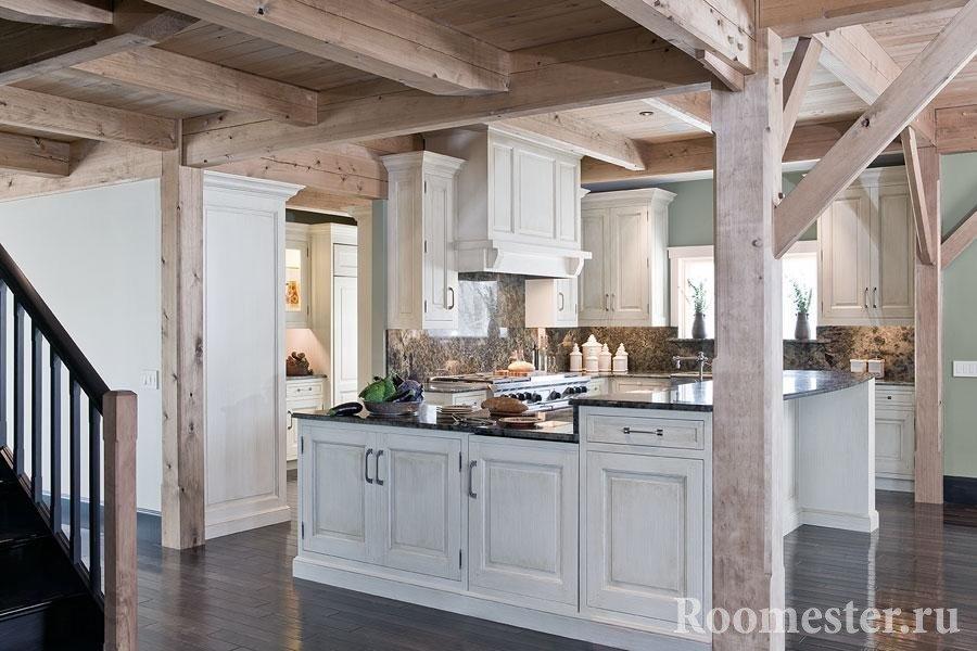 Колонны в кухне