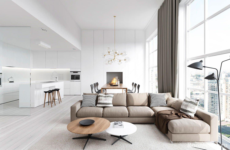 Стеклянные перегородки в современной квартире
