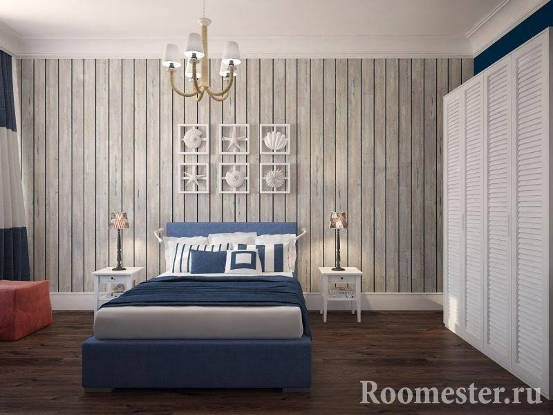 MDF paneling laid vertically