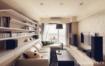 Дизайн узкой комнаты — 30 фото примеров