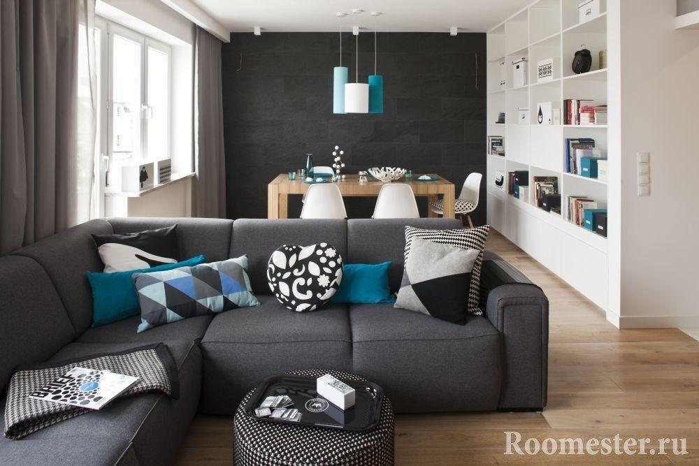 Прием зонирования узкой комнаты