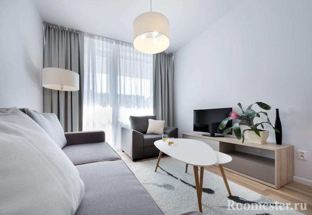 Дизайн длинных стен для узких комнат