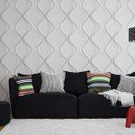 3д панели на стене за диваном