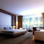 Выделение зоны возле кровати с помощью 3д панелей