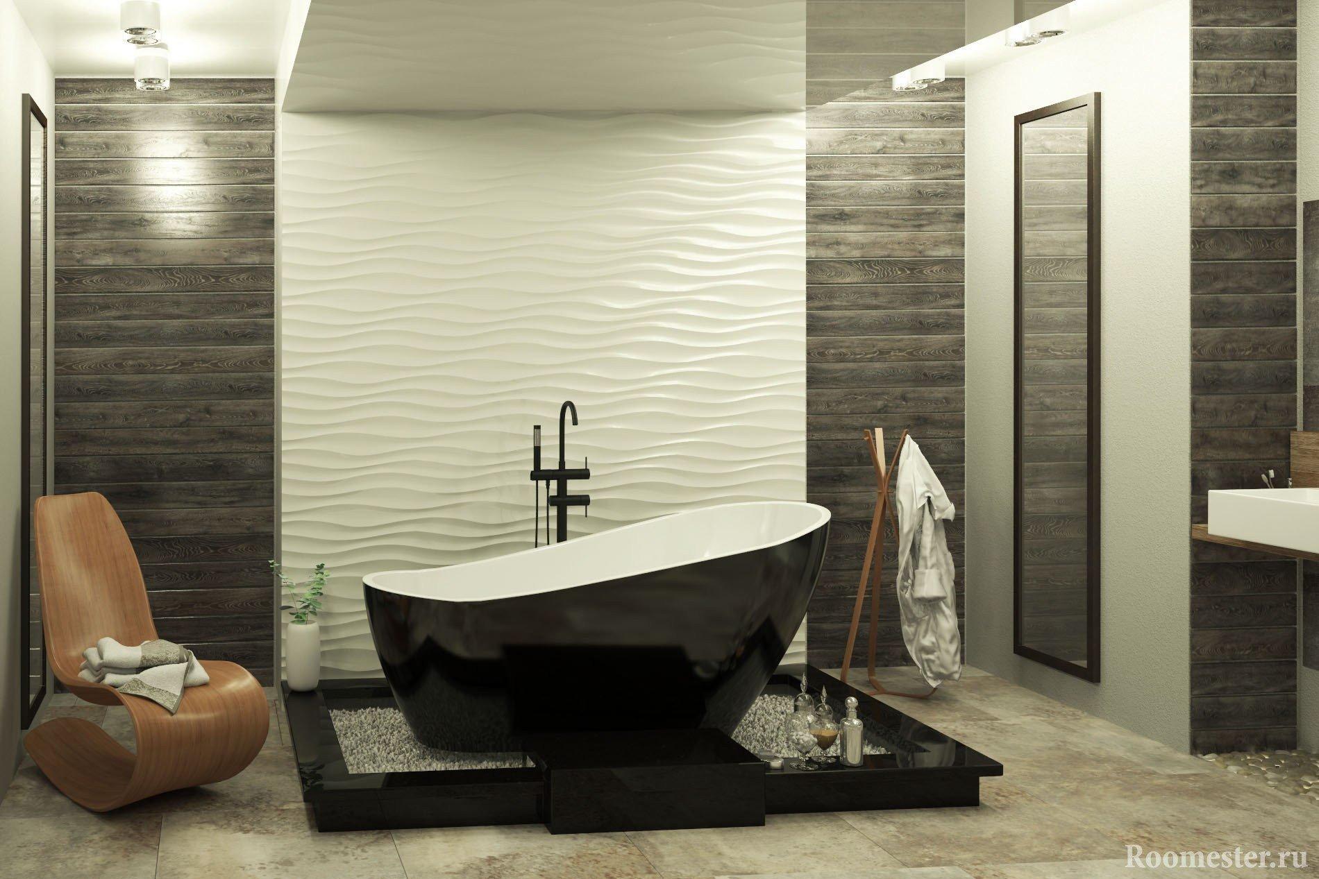 Объемные панели для ванной комнаты