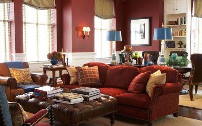 Бордовый цвет в интерьере и его сочетания +42 фото примера