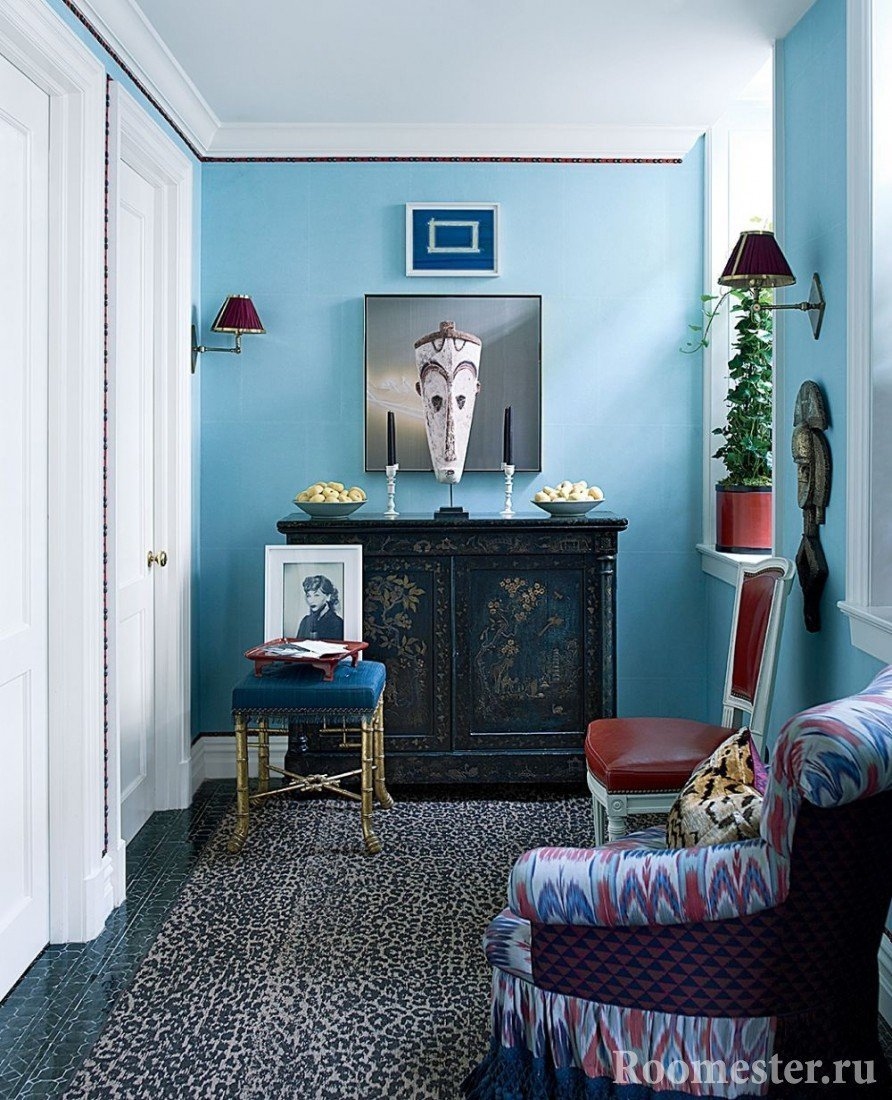 Голубой цвет стен