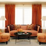 Оранжевый декор комнаты