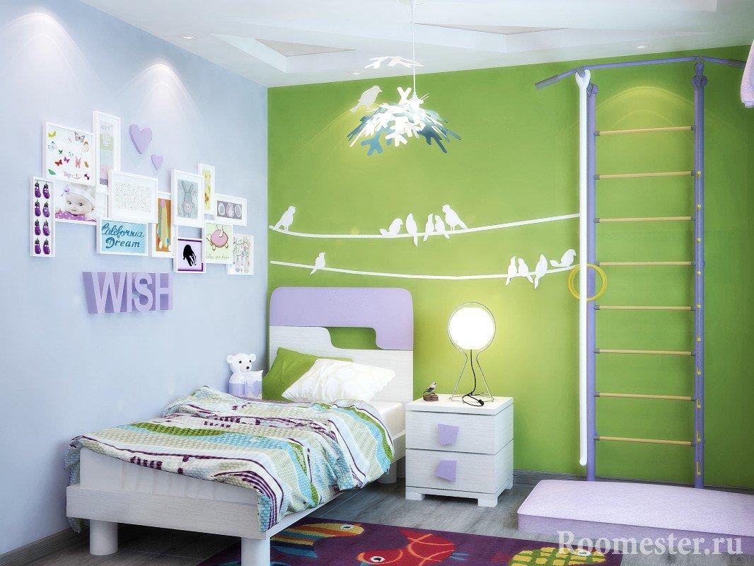 Декор из бумаги на стену в детскую