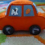 Самодельный автомобиль из фетра