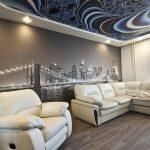 Натяжной потолок с использованием узоров