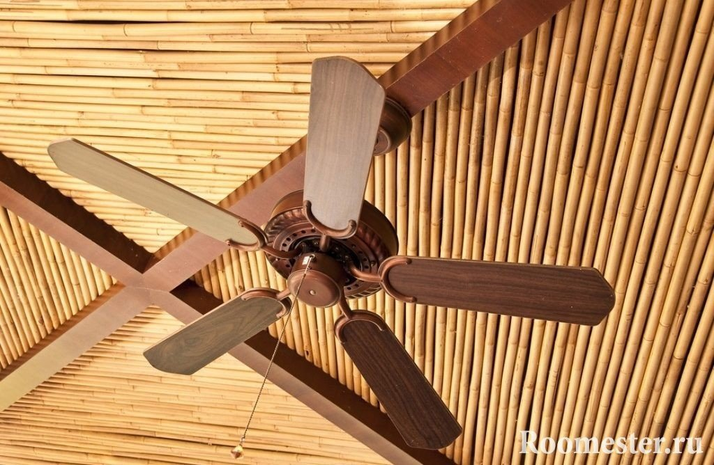 Бамбуковые декорации для потолка