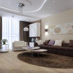 Дизайн потолка в спальне в современном стиле