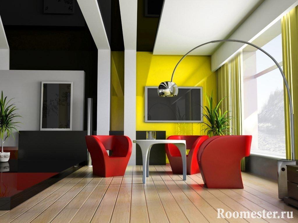 Интересное решение оформления потолка гипсокартоном