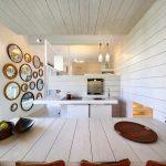 Подшивные потолки в интерьере кухни