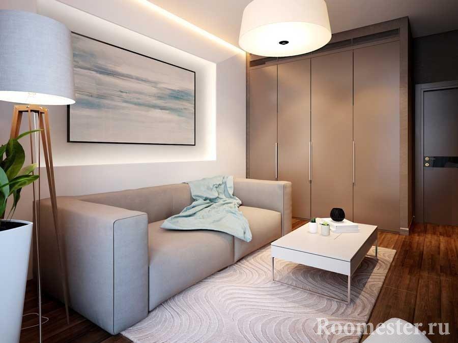 Шкаф-купе в небольшой комнате