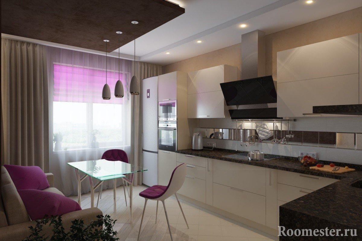 дизайн кухни 15 кв.м фото с диваном