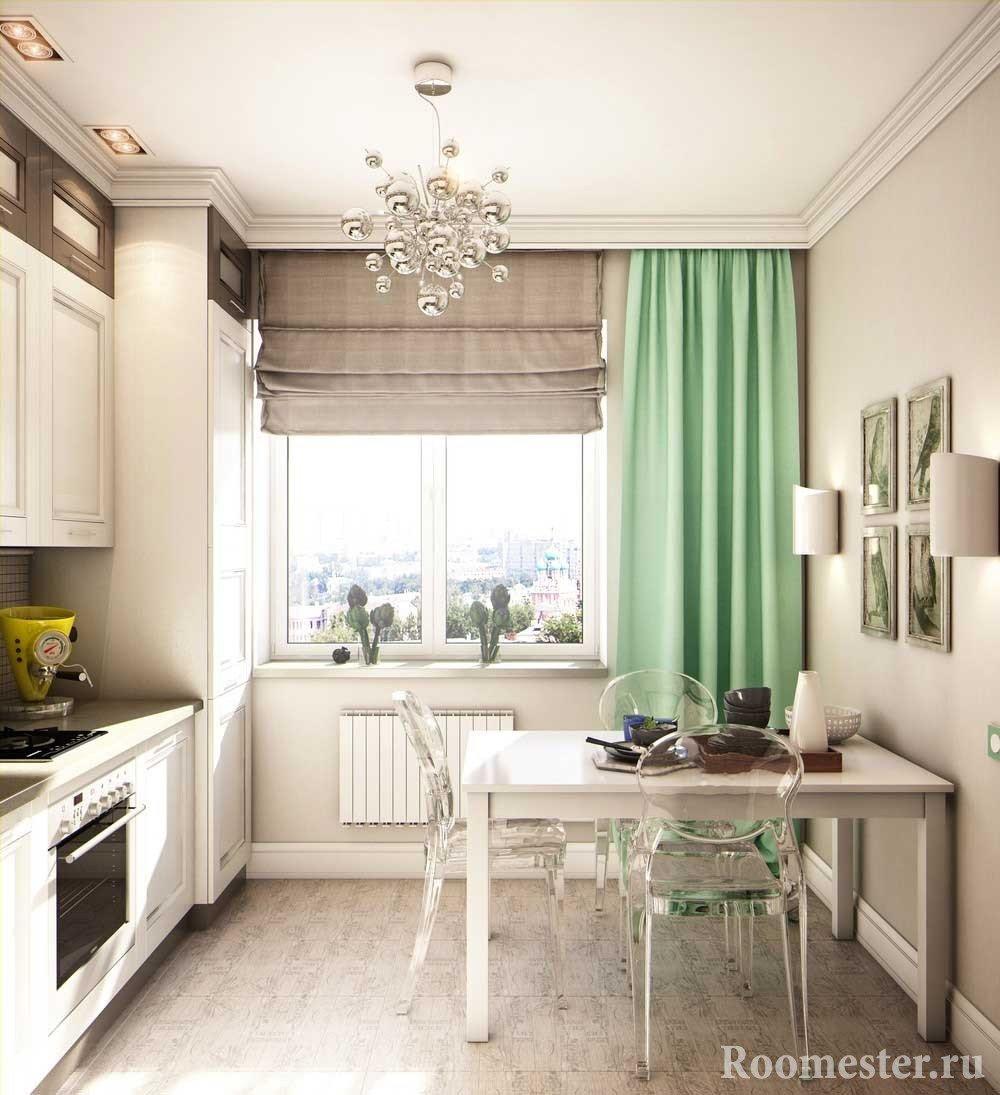 Стандартное расположение мебели на кухне