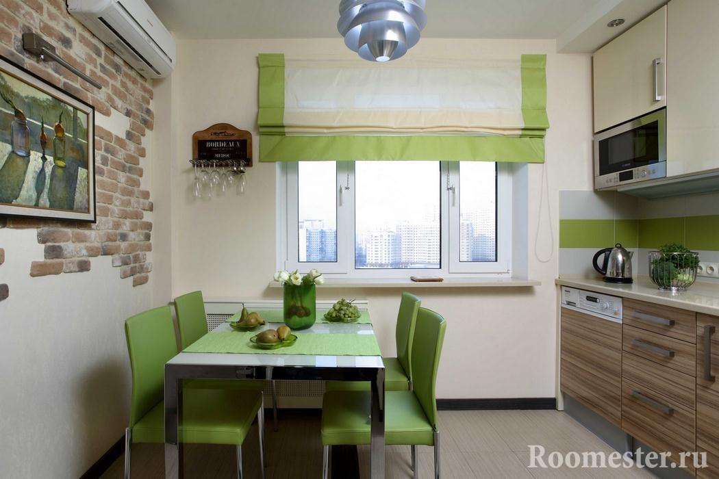 Бежевая кухня в сочетании с цветом дерева