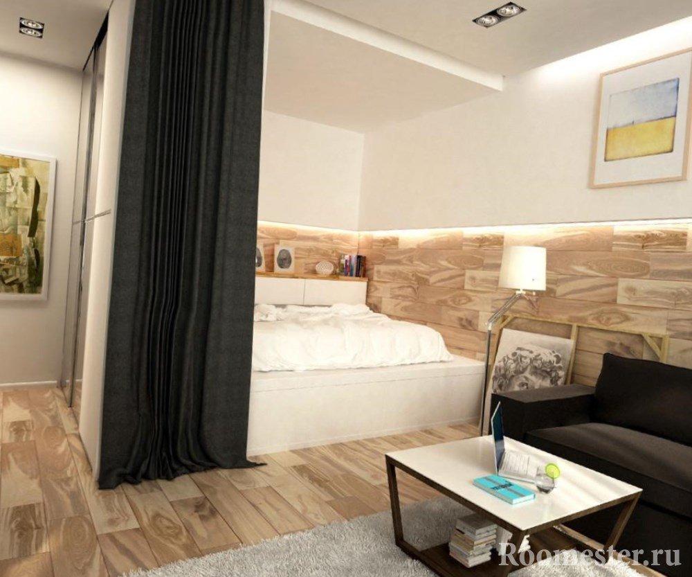 Дизайн гостиной с нишей