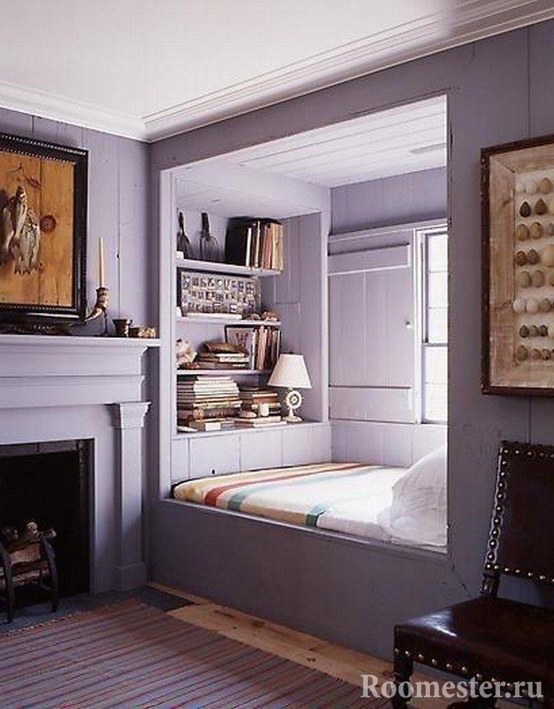Ниша и спальное место у камина