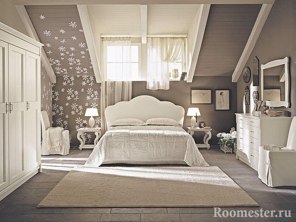 Нежный дизайн спальни