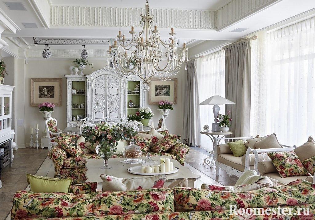Легкость, романтичность, простота интерьера во французском стиле