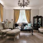 Сочетание темной и светлой мебели во французском интерьере