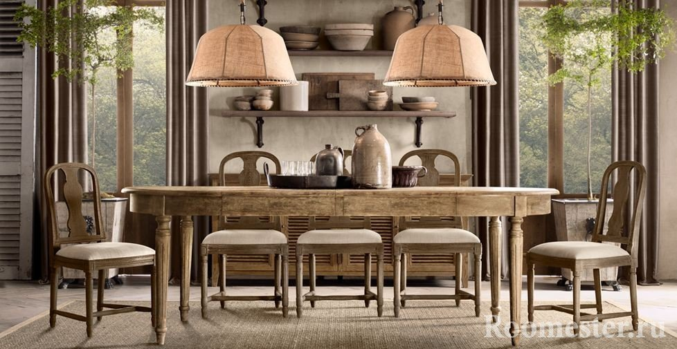 Оформление столовой во французском стиле