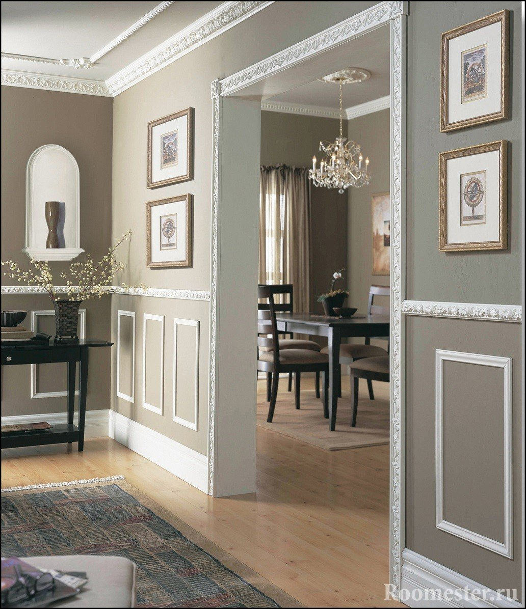 Examples of decorating walls and arch slats