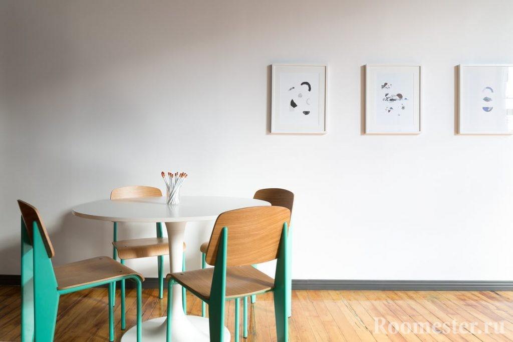Кухонная мебель мятного оттенка