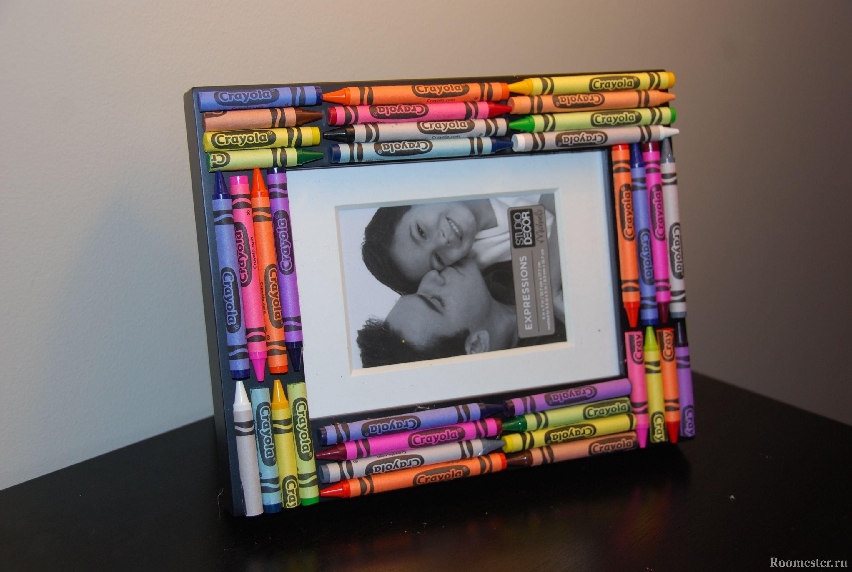 Фоторамка с карандашами своими руками фото 889