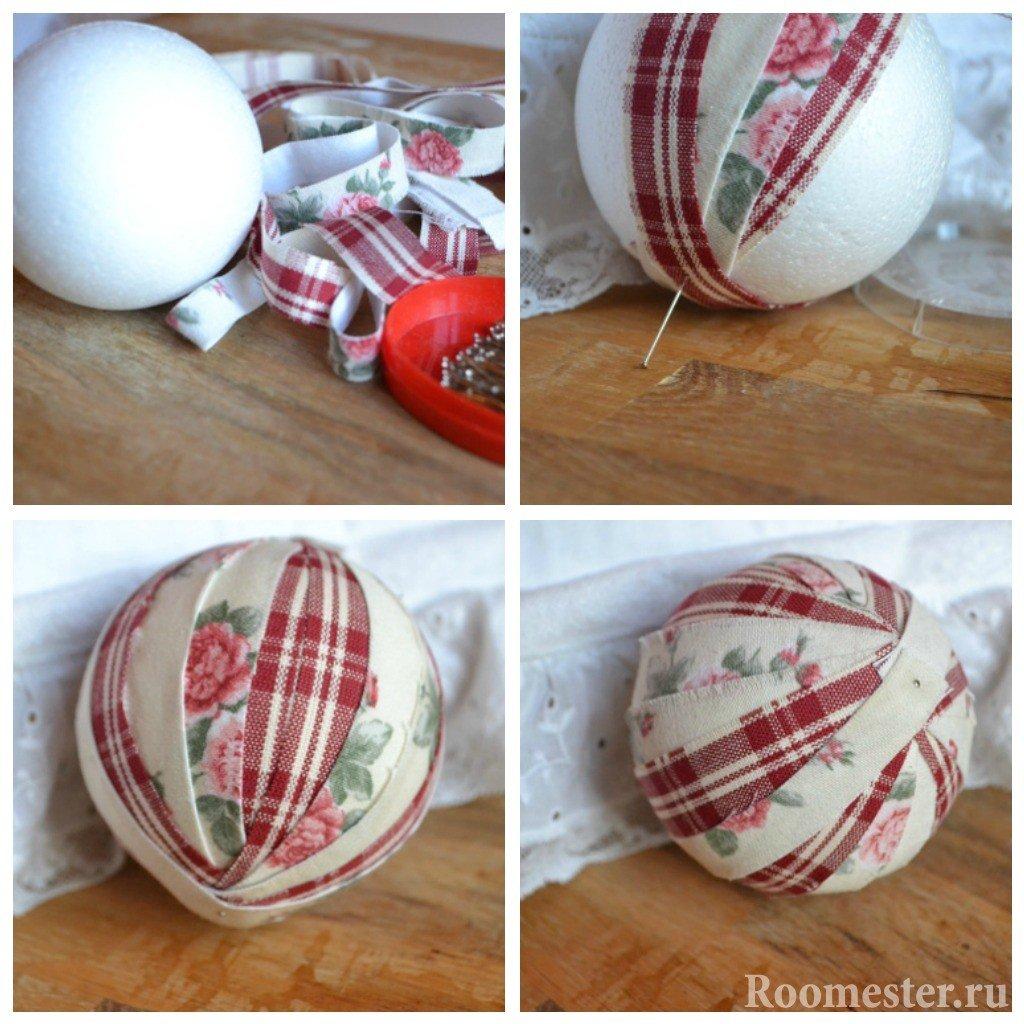 Новогодние шары из ткани своими руками фото 317