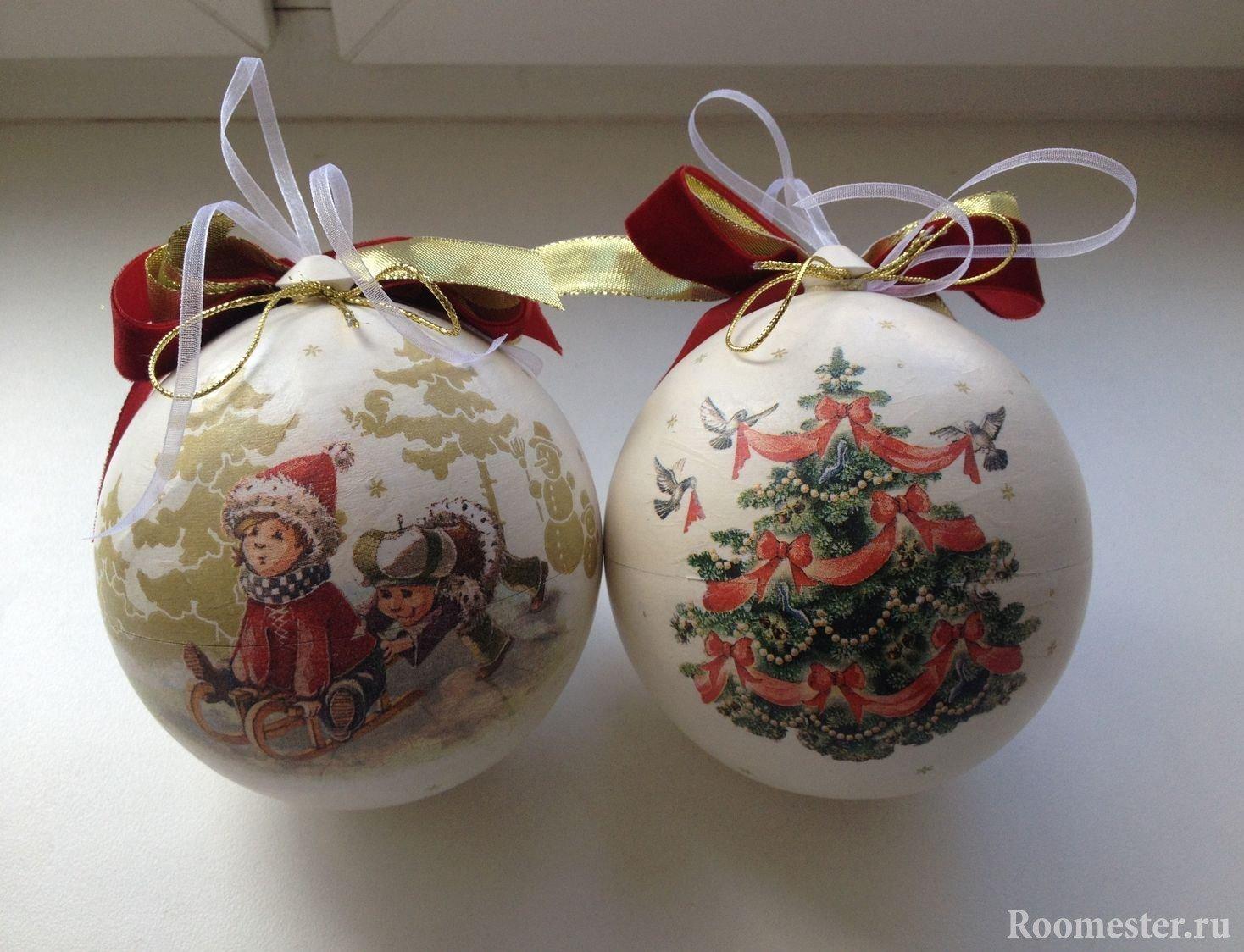 Новогодние шары из ткани своими руками фото 780