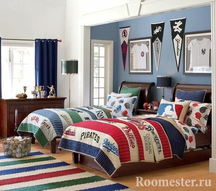 Пример расположения кроватей