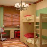 Размещение мебели в детской
