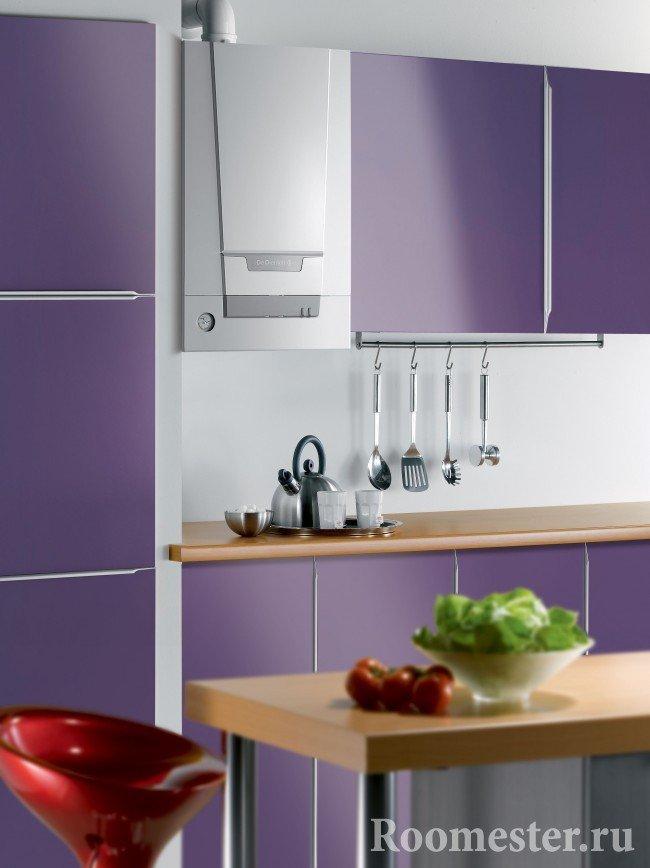 Сочетание кухонного гарнитура и колонки