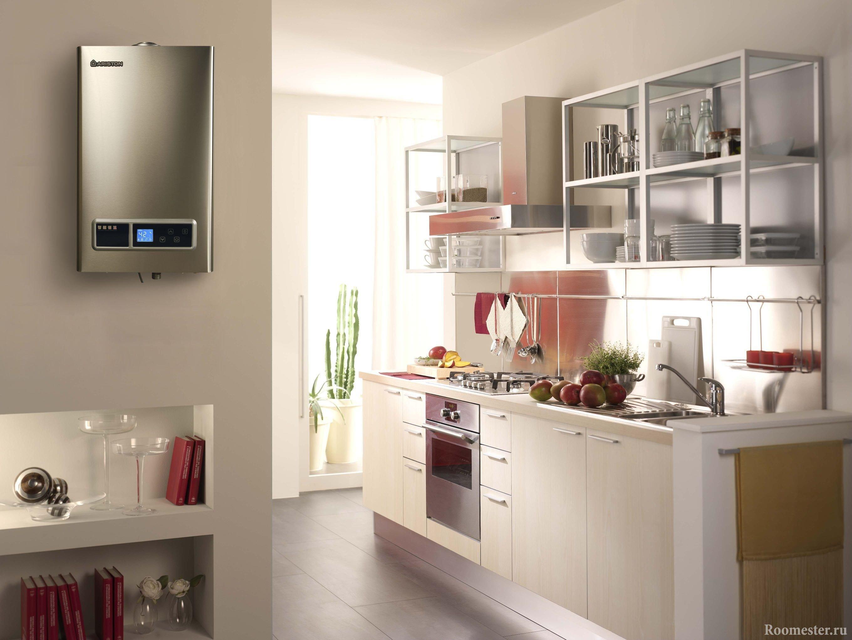 Современный дизайн кухни с колонкой