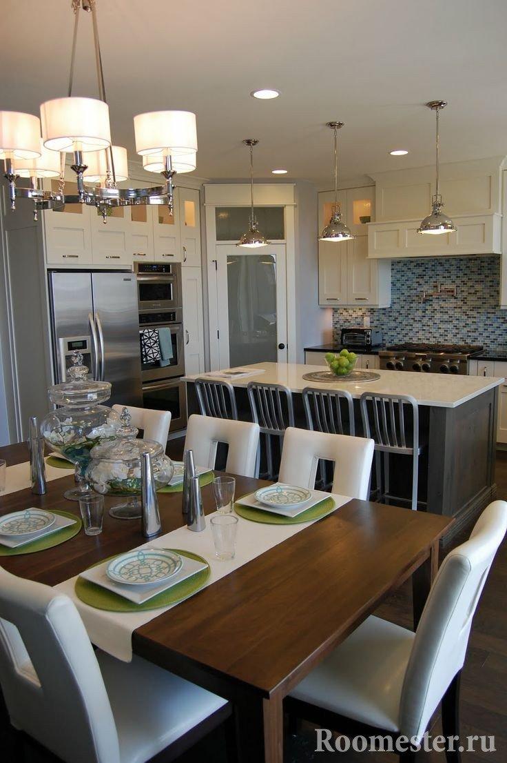 Декор кухонного стола аксессуарами