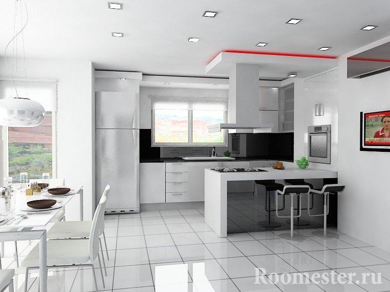 Дизайн-проект кухни и обеденной зоны