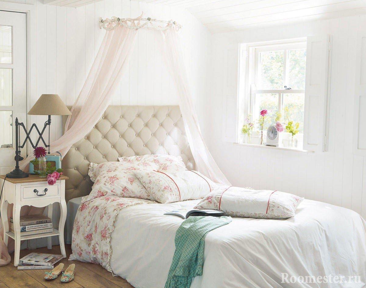 Нежная спальня для девушки