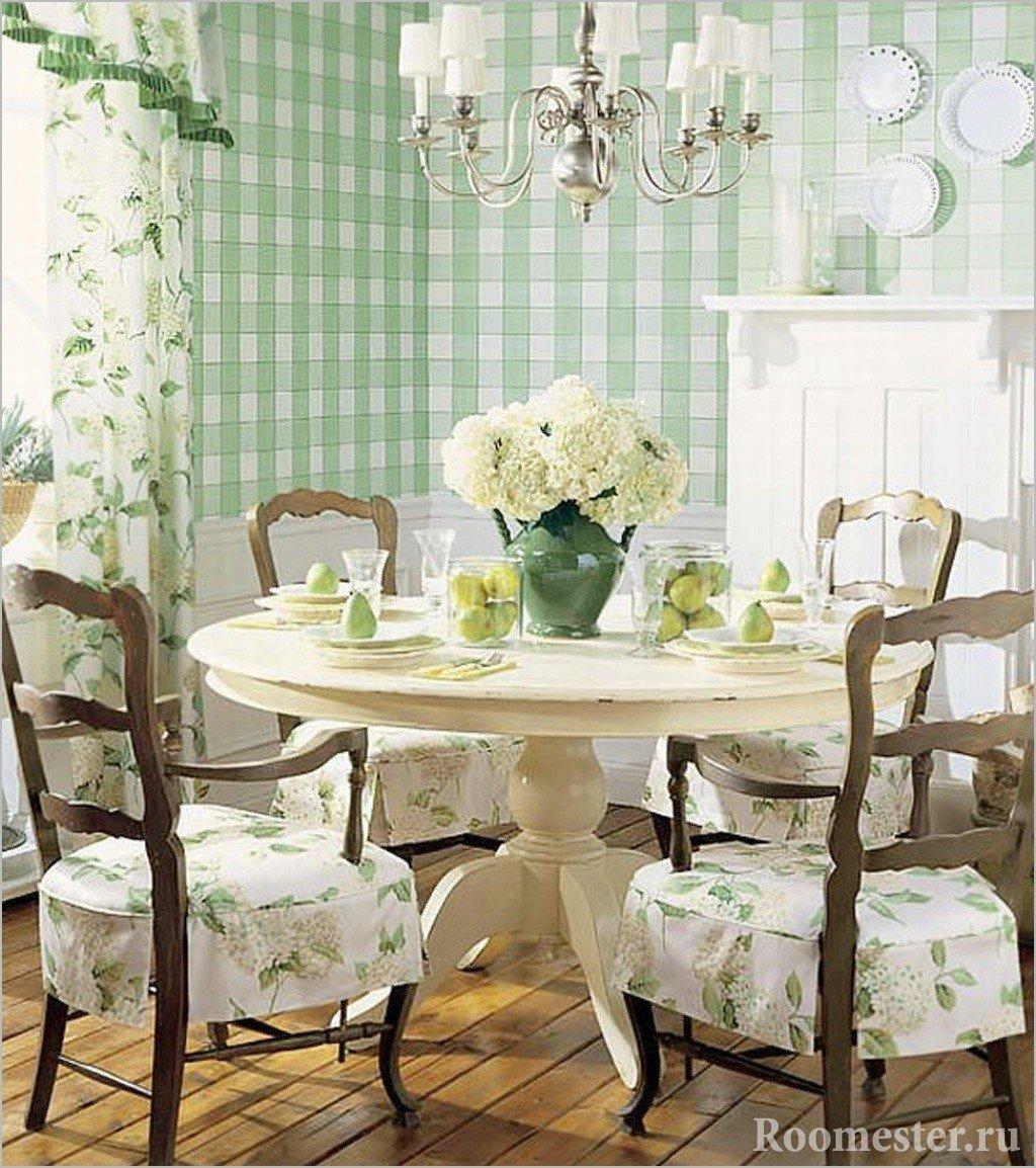 Декор интерьера в стиле прованс в столовой