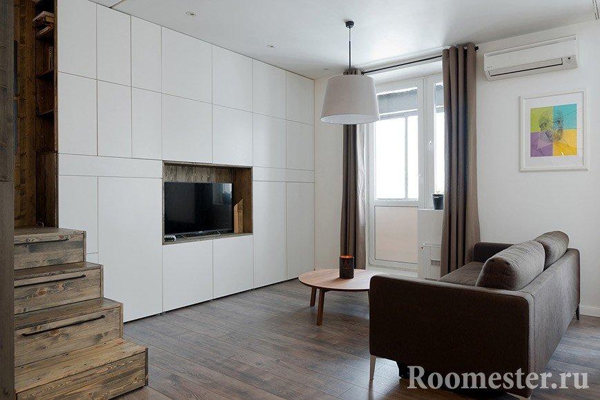 Места для хранения в гостиной квартиры