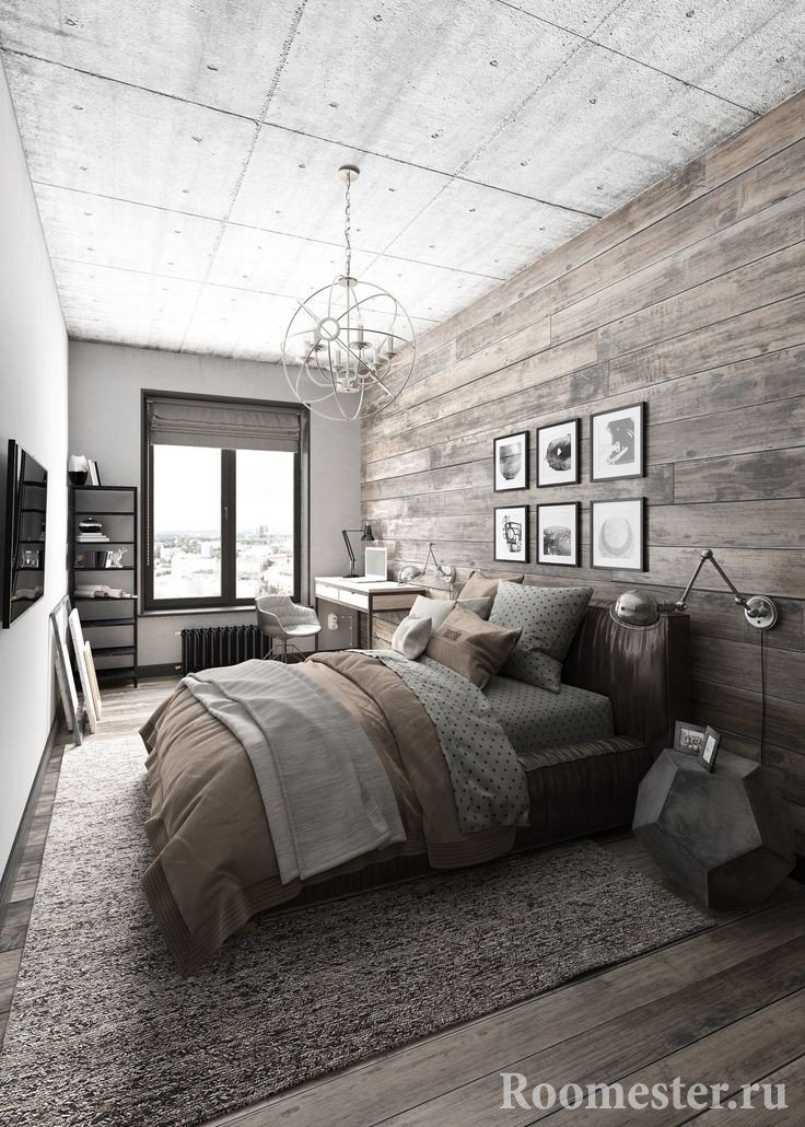 Loft style bedroom design