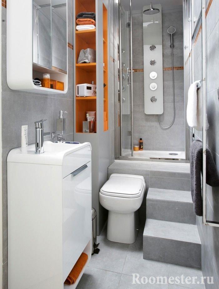 Хай-тек дизайн ванной комнаты