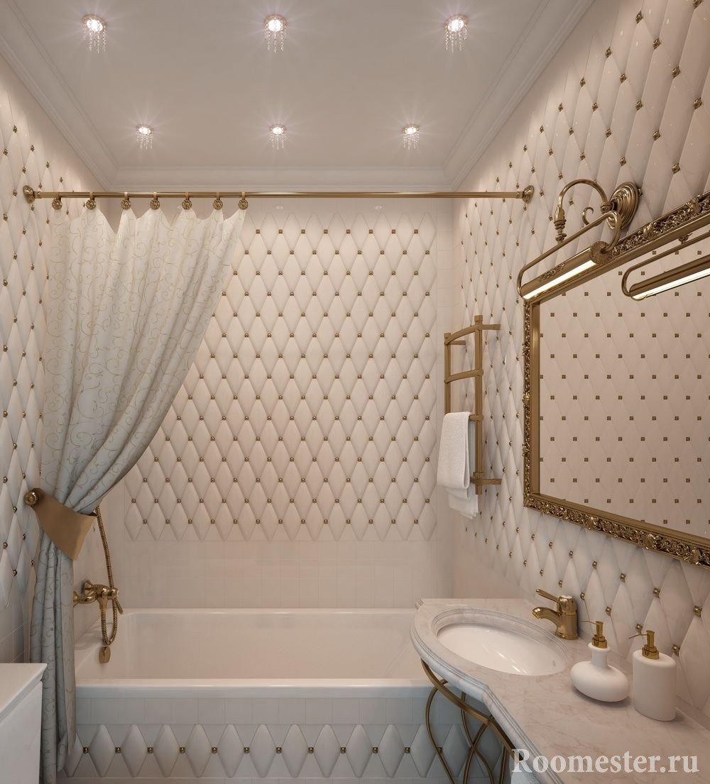 Необычная плитка в отделке ванной комнаты