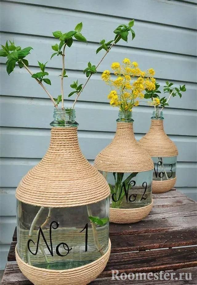 Прозрачные вазы